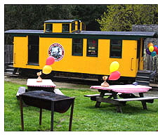 Train Party - the party area